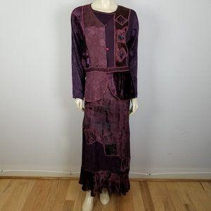 Country wear two piece Bohemian dress size L